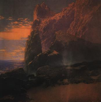 Maxfield Parrish : The Tempest