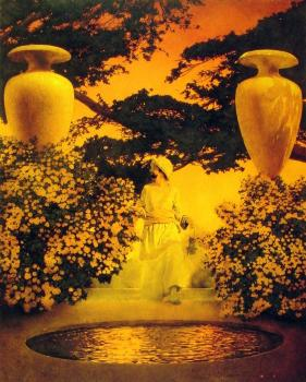Maxfield Parrish : Agib in the Enchanted Palace