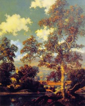 Maxfield Parrish : Early Autumn White Birch