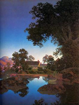 Maxfield Parrish : Evening Shadows