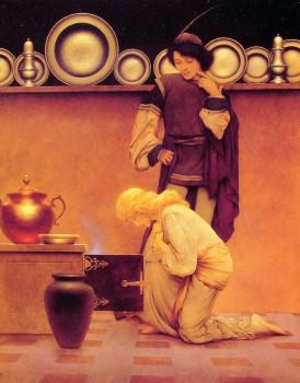 Maxfield Parrish : Lady Violetta and the Knave