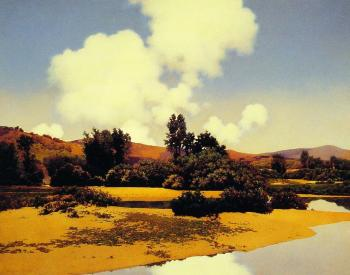Maxfield Parrish : Little Sugar River at Noon
