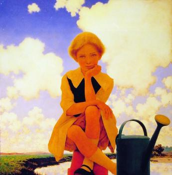 Maxfield Parrish : Mary Mary Quite Contrary