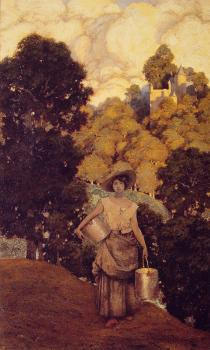 Maxfield Parrish : Milkmaid
