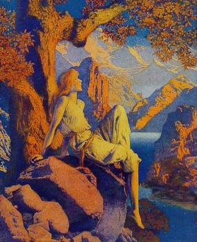 Maxfield Parrish : Night is Fled