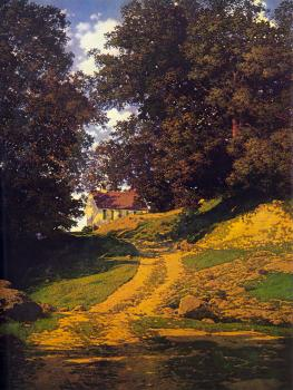 Maxfield Parrish : The Country Schoolhouse