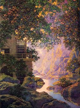 Maxfield Parrish : The Old Glen Mill II