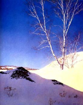 Maxfield Parrish : whitebirches