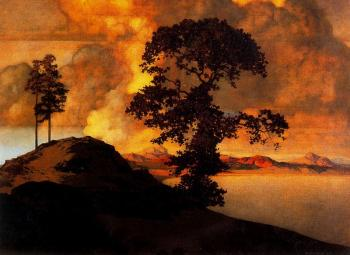 Maxfield Parrish : Atlas Landscape
