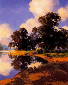 Maxfield Parrish : Sheltering Oaks