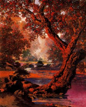 Maxfield Parrish : Autumn Brook