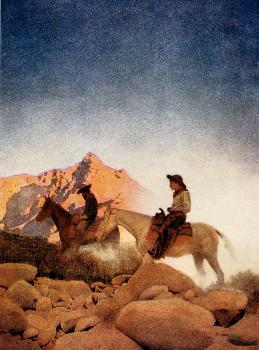 Maxfield Parrish : Canvas painting