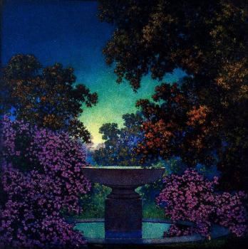 Maxfield Parrish : Blue Fountain