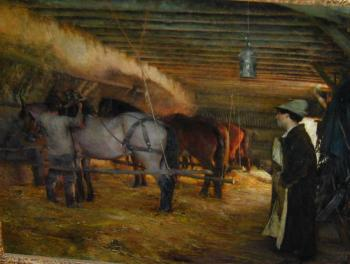 Pascal-Adolphe-Jean Dagnan-Bouveret : In the Stable