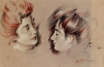 Paul Cesar Helleu : Head Studies