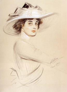 Paul Cesar Helleu : Portrait Of A Woman