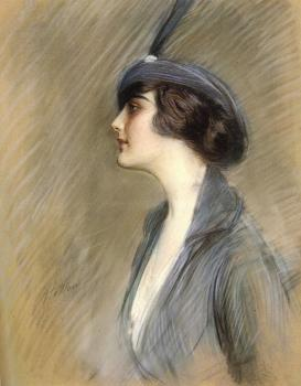 Paul Cesar Helleu : Portrait Of Clara Weil
