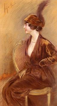 Paul Cesar Helleu : The Feathered Hat