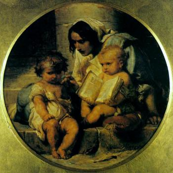 Paul Delaroche : A Child Learning to Read
