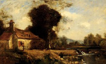 A Cottage By A Stream