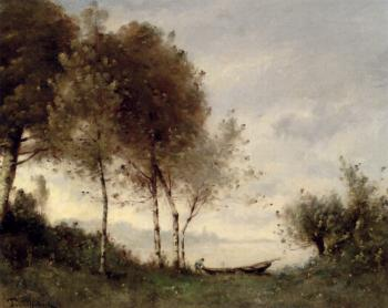 Boatman On A River Landscape