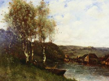 FISHERMAN AT THE RIVER'S EDGE
