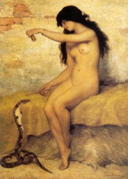 Paul Desire Trouillebert : The Nude Snake Charmer