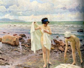 Paul Gustave Fischer : The Bathers