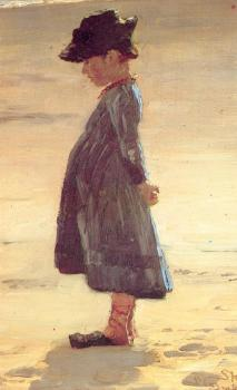 Peder Severin Kroyer : Nina en la playa