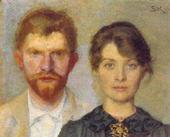 Peder Severin Kroyer : Retrato del matrimonio