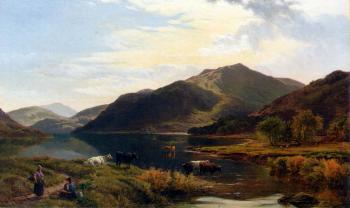 Sidney Richard Percy : Cattle By A Lake