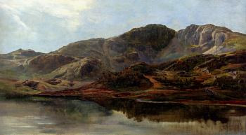 Sidney Richard Percy : Landscape With A Lake And Mountains Beyond