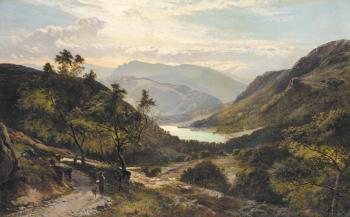 Sidney Richard Percy : The Path Down to the Lake North Wales
