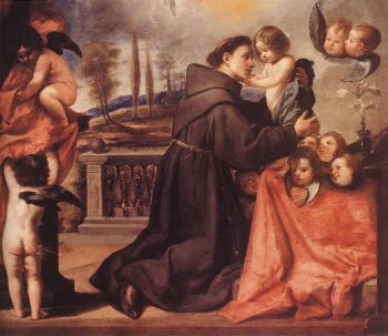 Antonio De Pereda : St Anthony of Padua with Christ Child