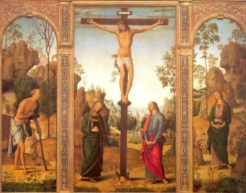 Pietro Perugino : The Crucifixion with the Virgin and Saints