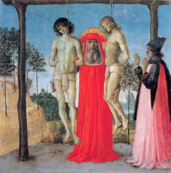 Pietro Perugino : St. Jerome Supporting Two Men on the Gallows
