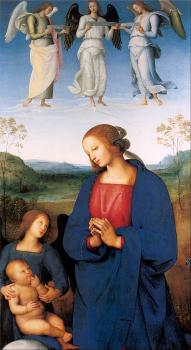 Pietro Perugino : The Virgin and Child with an Angel