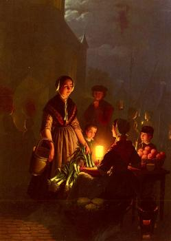 Petrus Van Schendel : The Evening Market