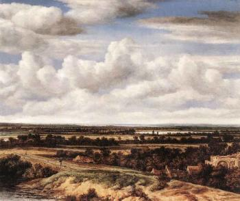 Philips Koninck : An Extensive Landscape With A Road By A Ruin