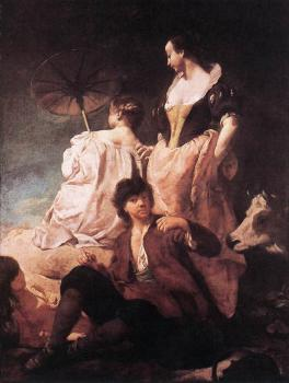 Giovanni Battista Piazzetta : Idyll At The Coast