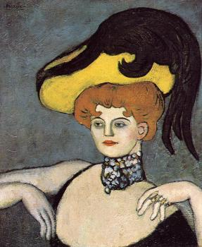 Pablo Picasso : courtesan with a jeweled necklace