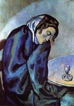 Pablo Picasso : the sleepy drinker