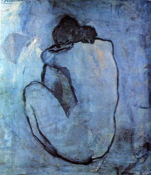 Pablo Picasso : seated nude back view