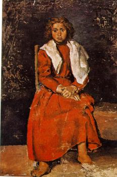 Pablo Picasso : the young girl with bare feet