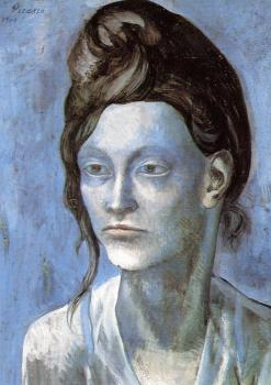 Pablo Picasso : woman with a helmet of hair