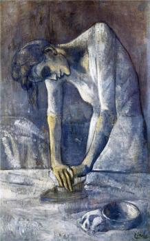 Pablo Picasso : woman ironing