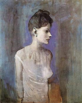 Pablo Picasso : woman in a chemise