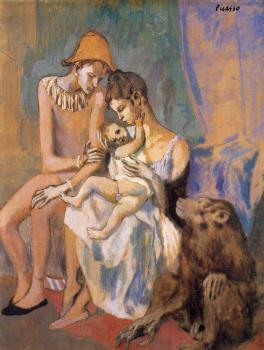 Pablo Picasso : Family of Acrobats with of Monkey
