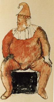 Pablo Picasso : Fat Clown Seated