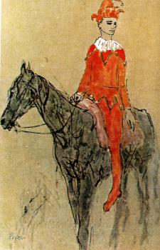 Pablo Picasso : Clown on a Horse